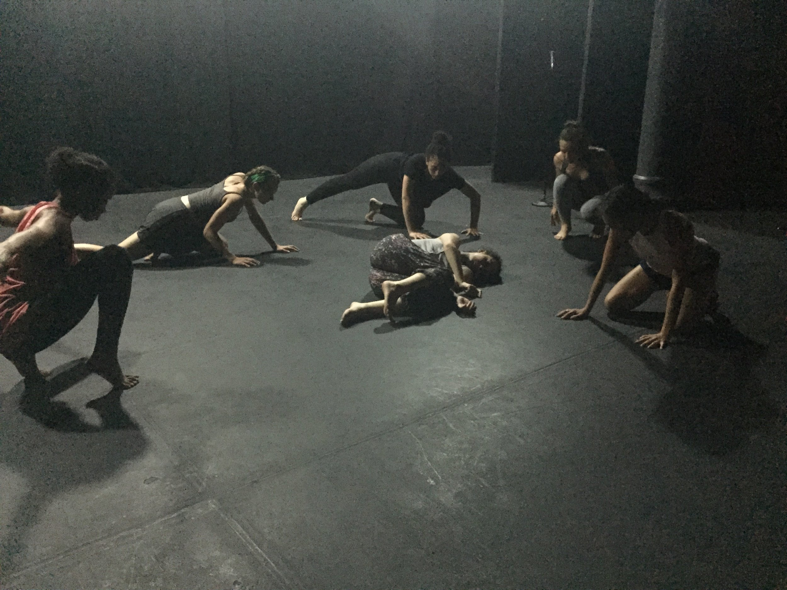 "Rehearsal for ""Girl Inside the Mirror"" at Teatro LATEA. Photo by Nicoletta Mandriotti"