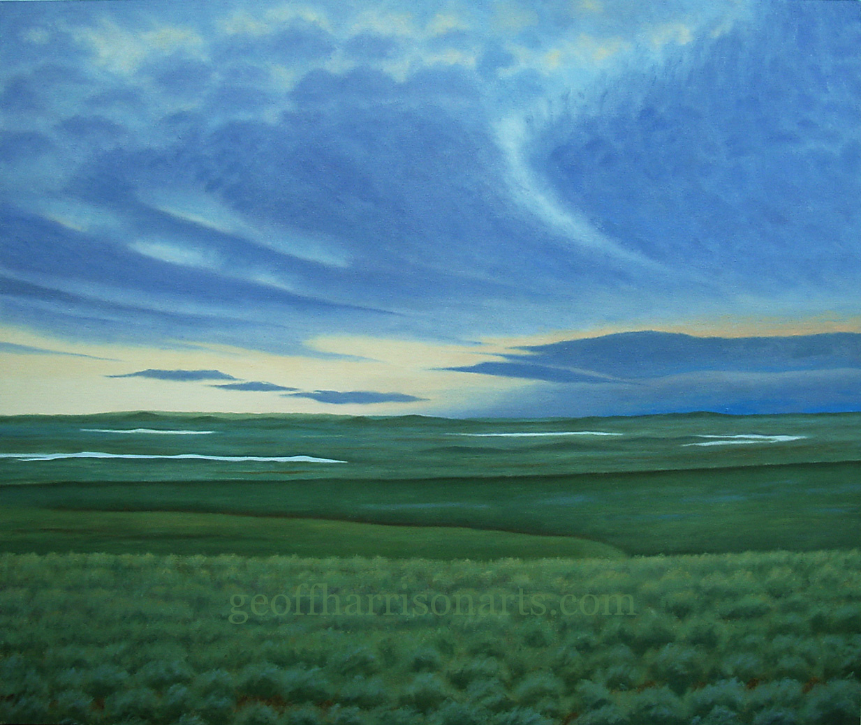 The Sky's beginning To Bruise  Oil On Canvas  109 cm x 129 cm
