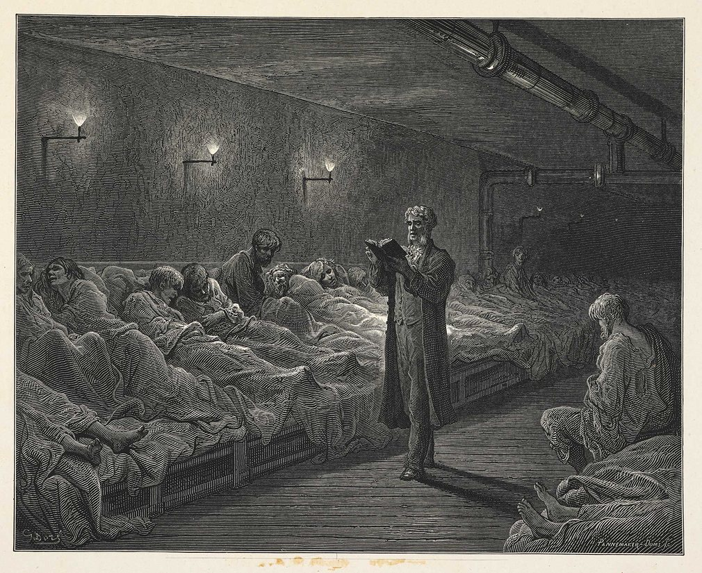 Scripture Reading In A Night Refuge