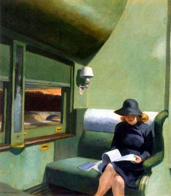 "Edward Hopper, ""Compartment C, Car 293""."