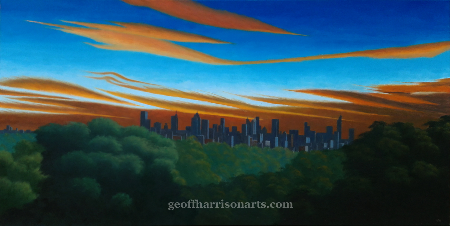 The Roar Of The Approaching Night     Oil On Canvas       75 cm x 150 cm