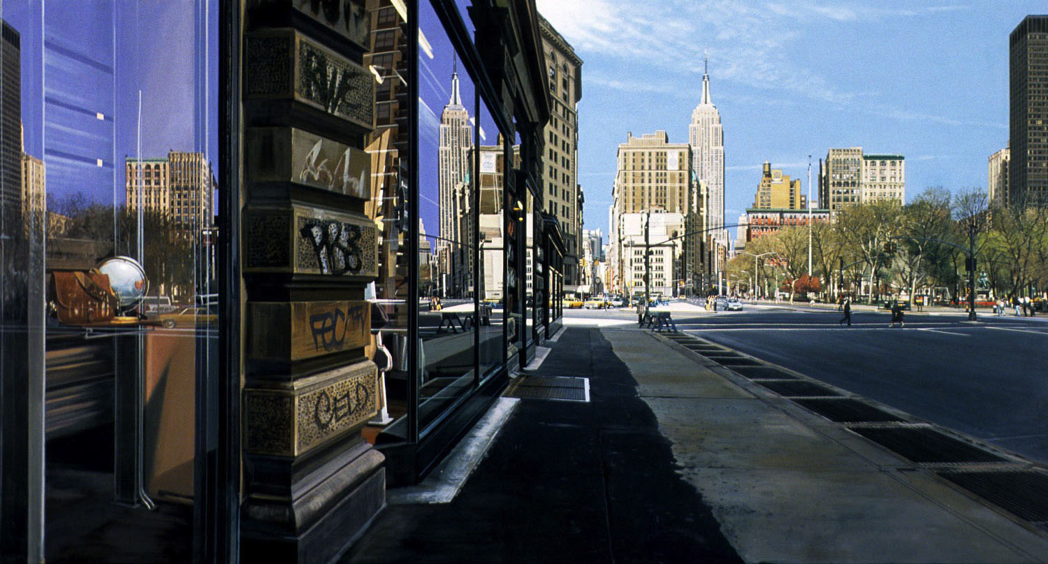 Madison Square  (1994)                     Richard Estes                    Oil On Canvas