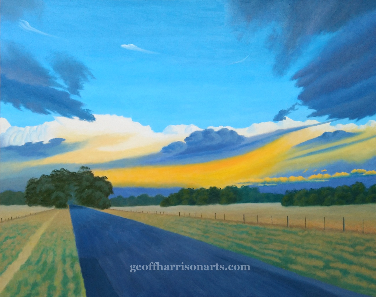 Storms Over The goldfields  Oil On Canvas  97 cm x 122 cm