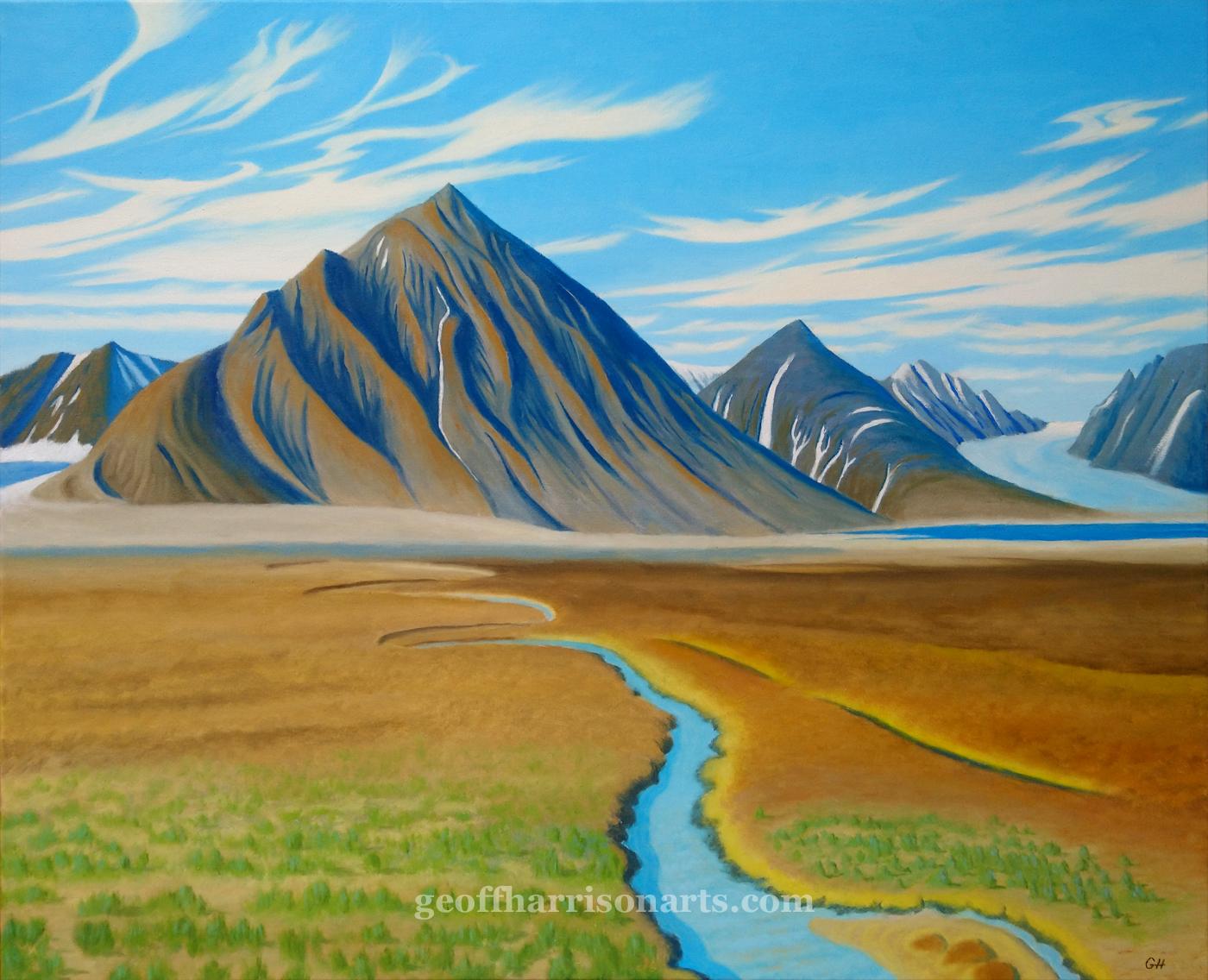 Arctic Summer  Oil On Canvas  77 cm x 92 cm