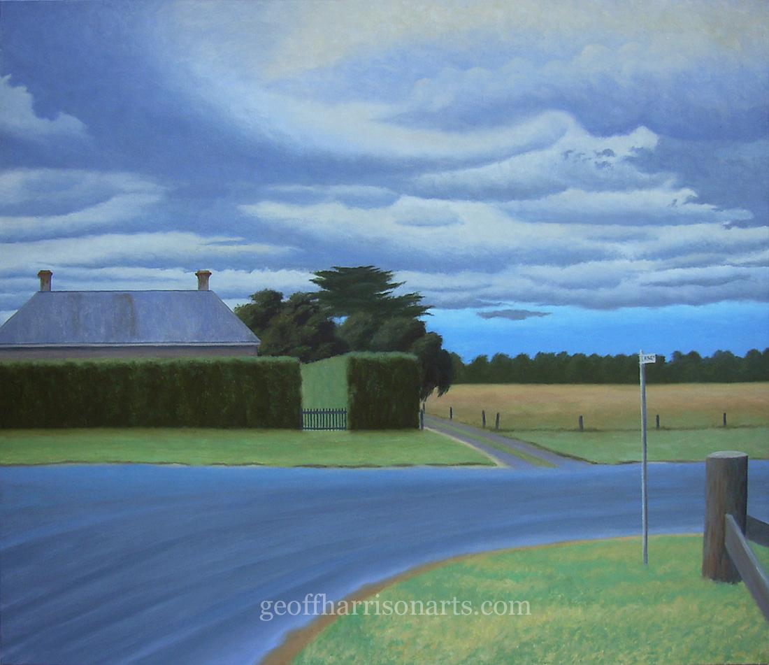 """Darkening Skies Over Talbot"" 2015 Oil On Canvas"