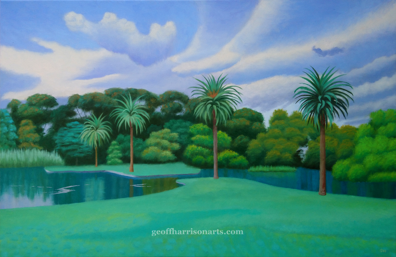 Grey Day In The Gardens Oil On Canvas 71 cm x 107 cm