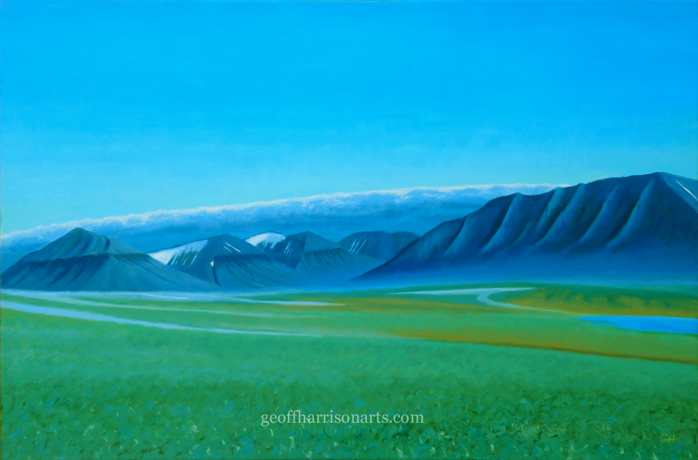 Meadow In The Arctic  Oil On Canvas  61 cm x 90 cm