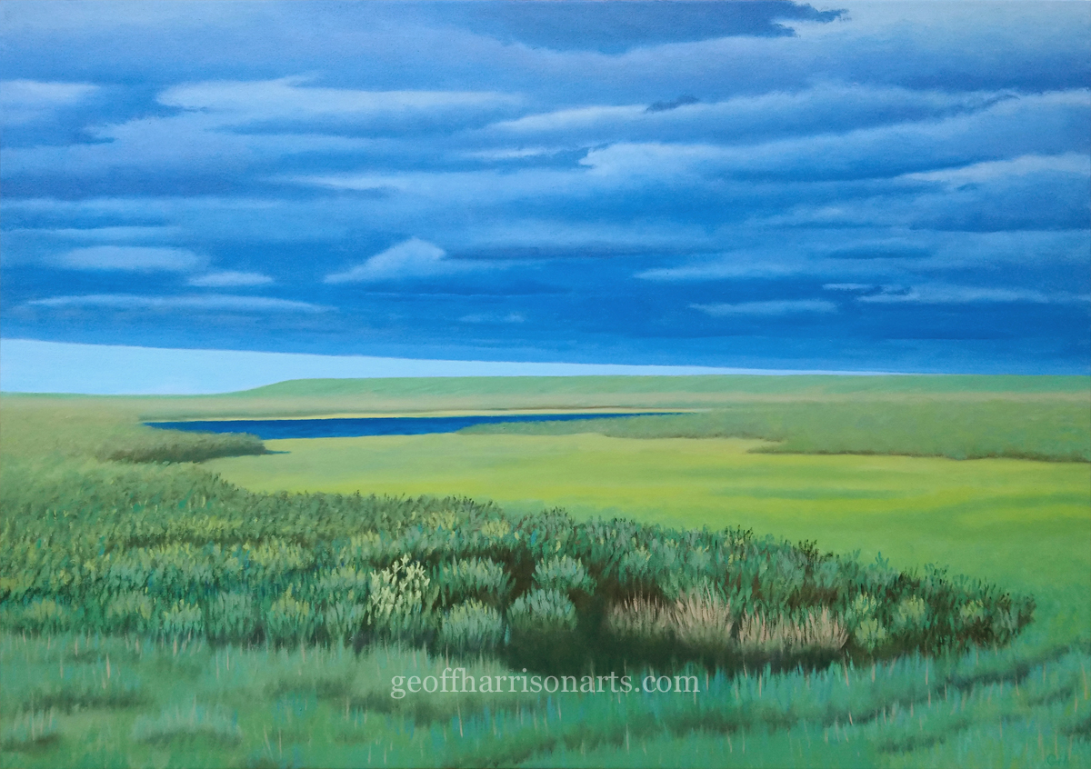 Alone In The Marshland  Oil On Canvas  71 cm x 100 cm