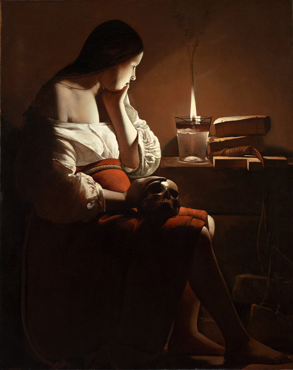 Georges Del La Tour, Magdalen With A Smoking Flame, circa 1640