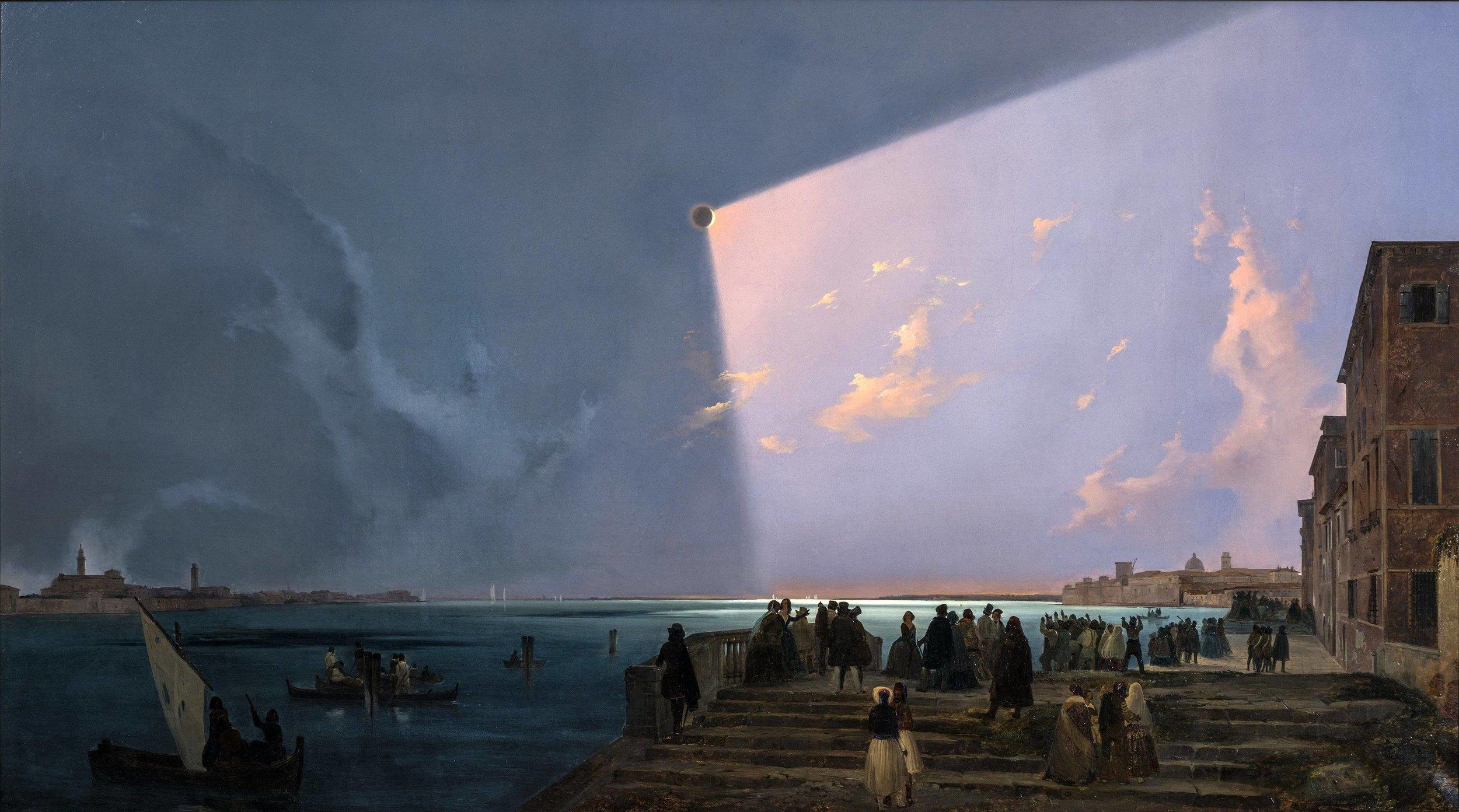 Ippolito Caffi, Solar Eclipse Over Venice 1842