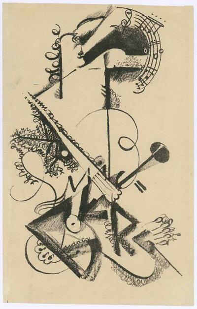 Friedl Dicker, Design for a recital evening at the Bauhaus