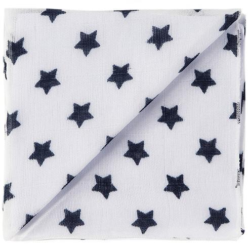 20 weiss/marine Sterne