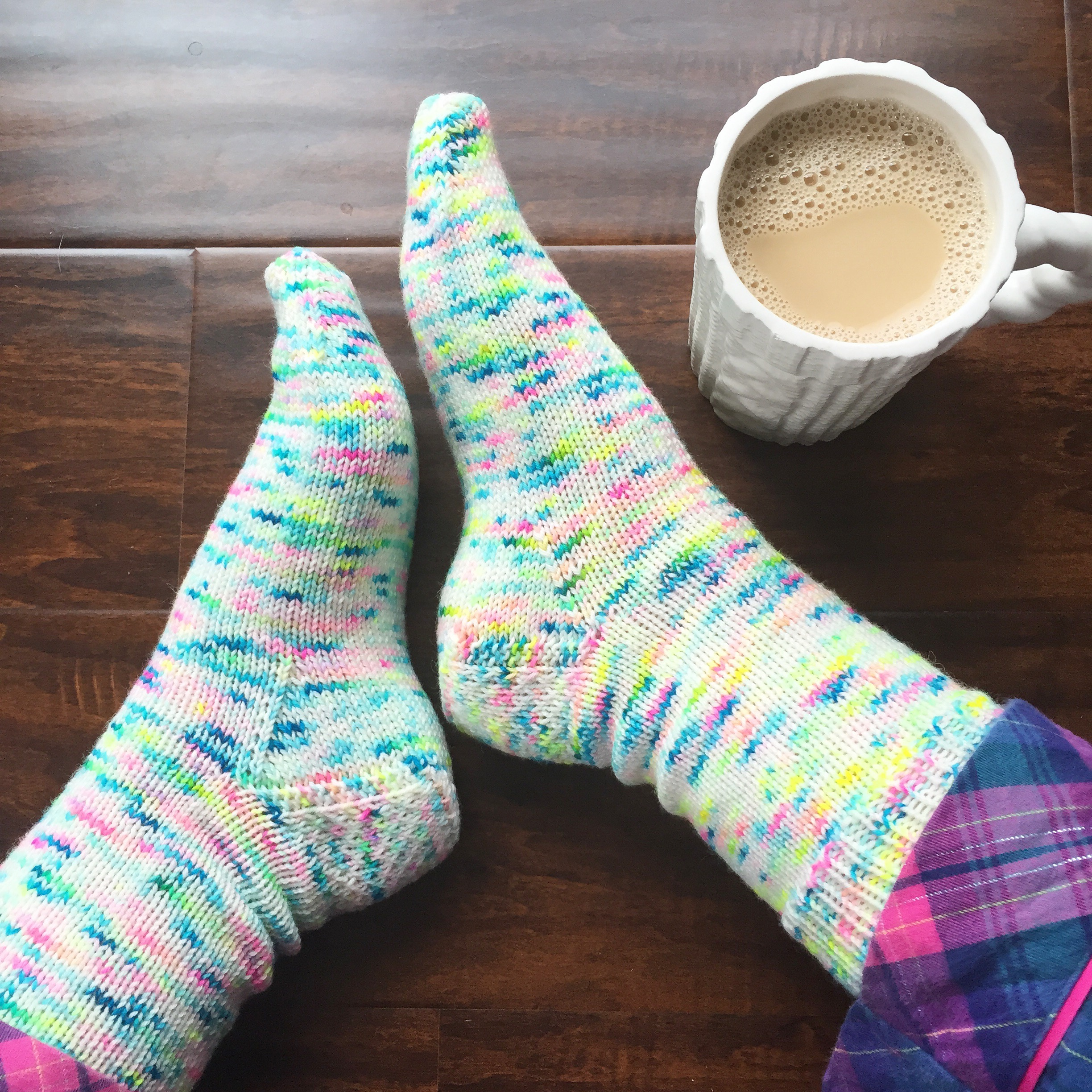 My Favorite Vanilla Socks - Free Cuff-Down Sock Knitting Pattern