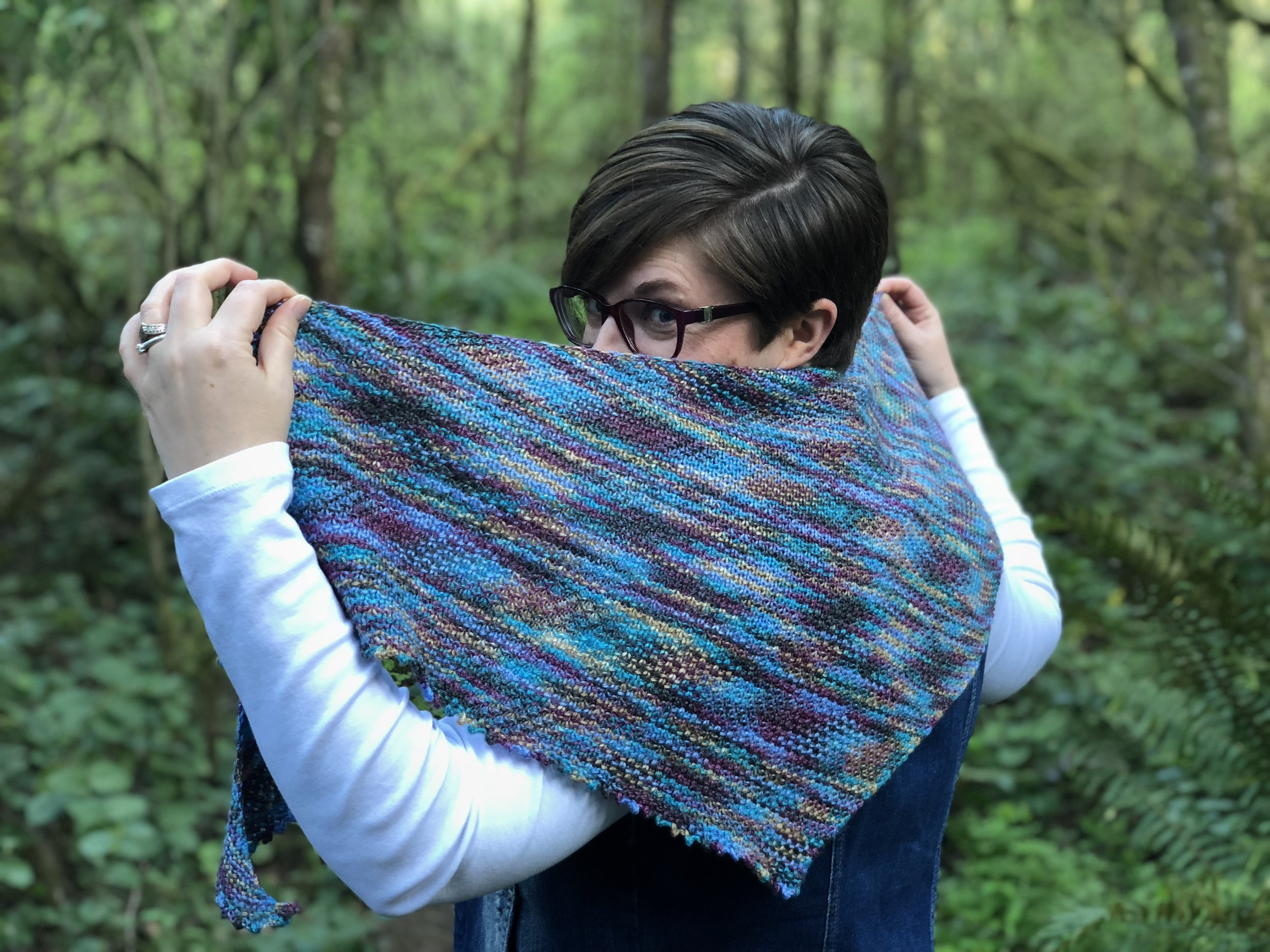 My Simple Solution - One Skein Shawl Knitting Pattern