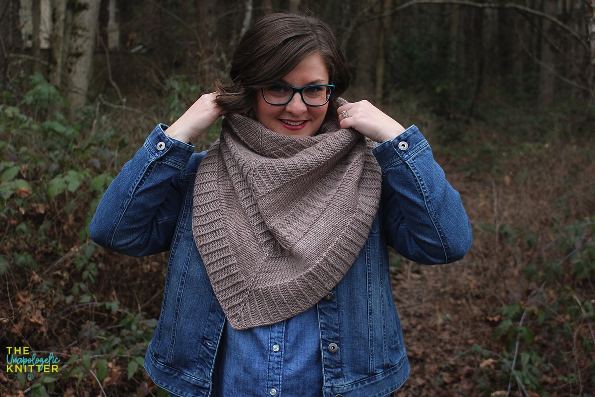 Hand knit shawls in 2 shapes and sizes featuring a repeating textural pattern.