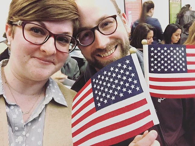 A little over a year ago, the Hubbs and I became American citizens. Making the choice to leave our home and join this great country was no small thing. It's emotional. Sometimes scary. But mostly empowering - to make the choice to create a new life in a new country. I get emotional every time I think about what it really means to be an immigrant. My choice and path were quite easy compared to many who come to this country. So today as I celebrate my freedoms in America, I'll also be thinking of the many who are striving for the same freedoms I was so easily afforded. I wish everyone a very safe and happy Independence Day. 🇺🇸