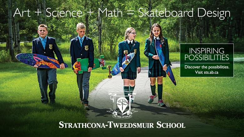 An actual ad used by the Strathcona-Tweedsmuir School!