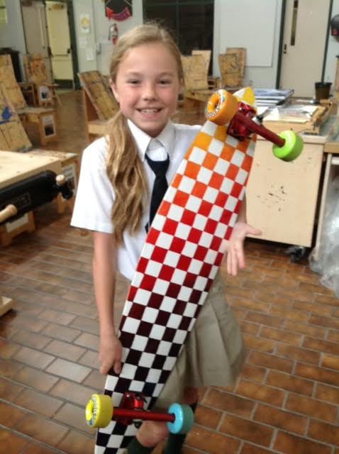 Superstar student Kate showing off her amazing creation!