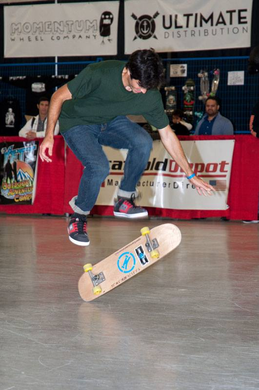 Beau Trifiro styling on his open source skateboard