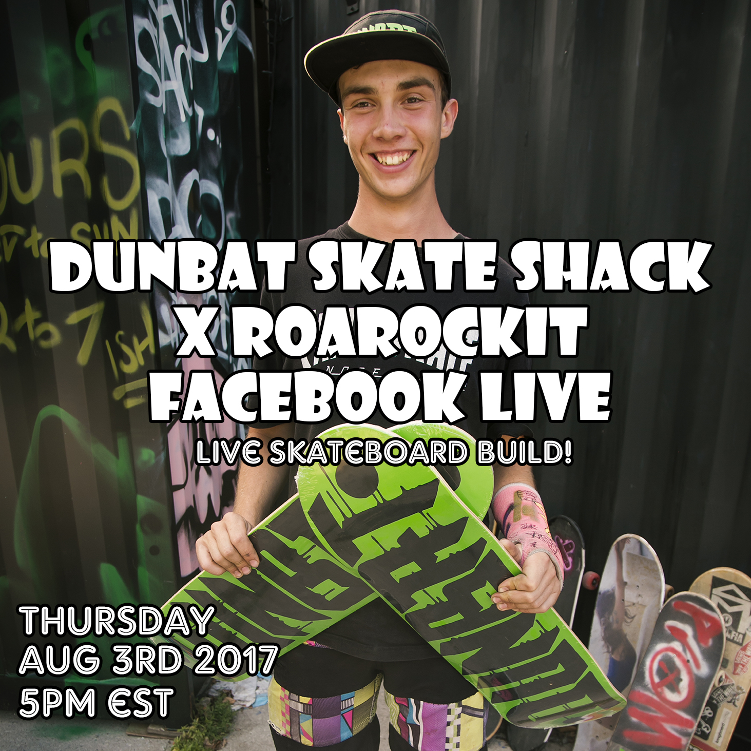 We'll be doing a Facebook live board demo with Zach on Thursday August 3rd 2017 5pm EST