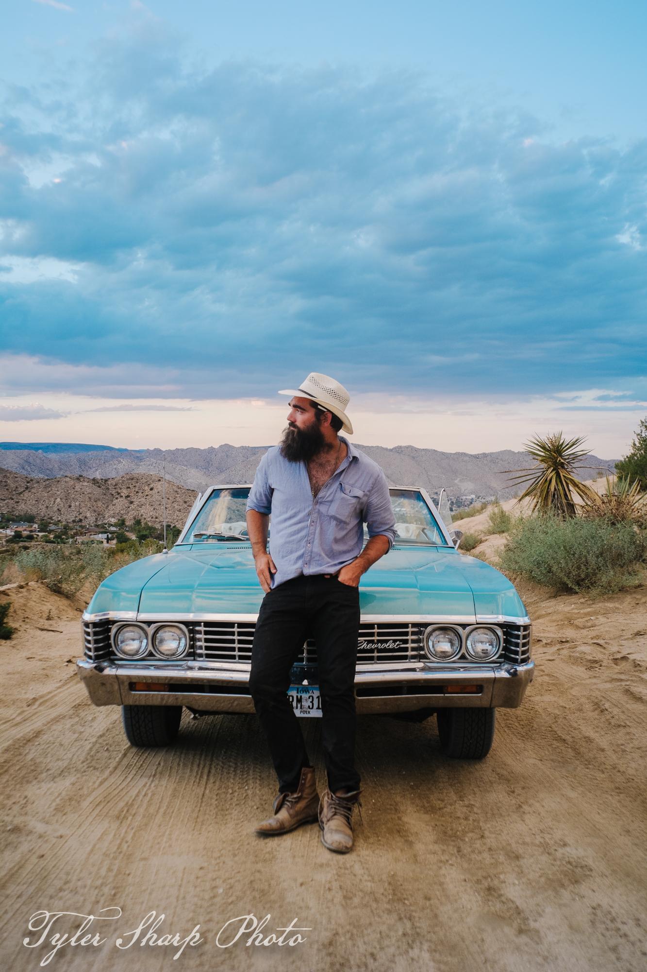 Garrett Cornelison and his 67' Chevy Impala.