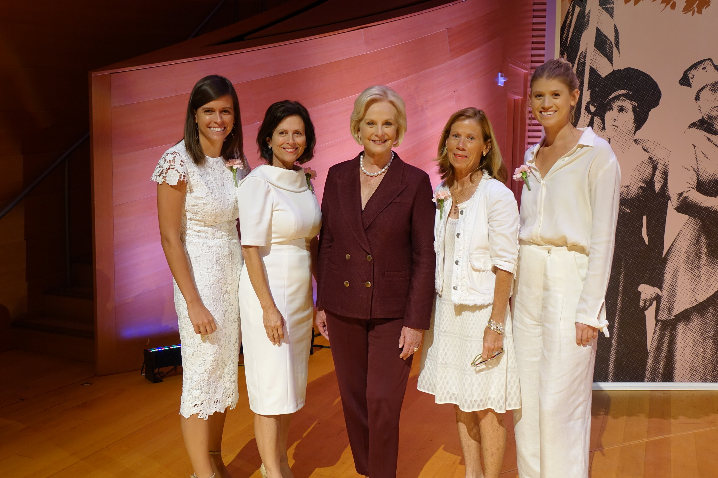 Our event chairs Millie Brown, Stephanie Schneider, and Caroline and Cathi Brain with Cindy McCain.