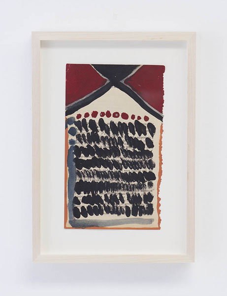 Untitled, 2004  Tempera and Watercolor on paper  7 x 4.25 in  BERBE0267