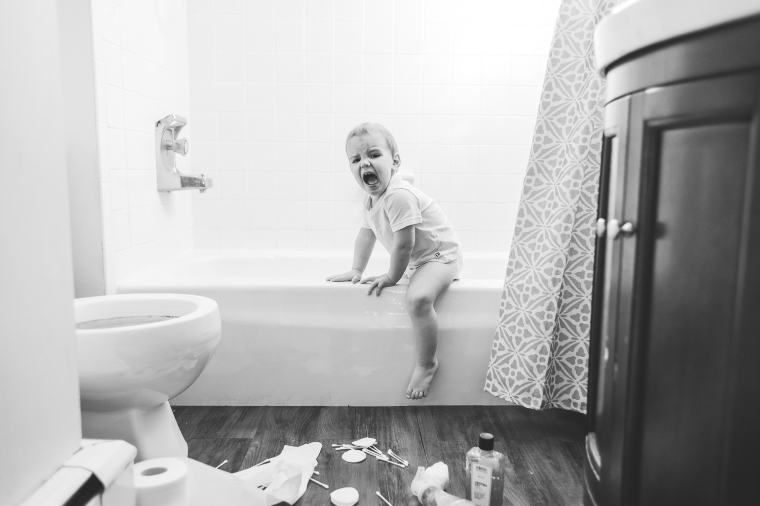 6/366 | The mess in the bathroom was seriously stressing him out.
