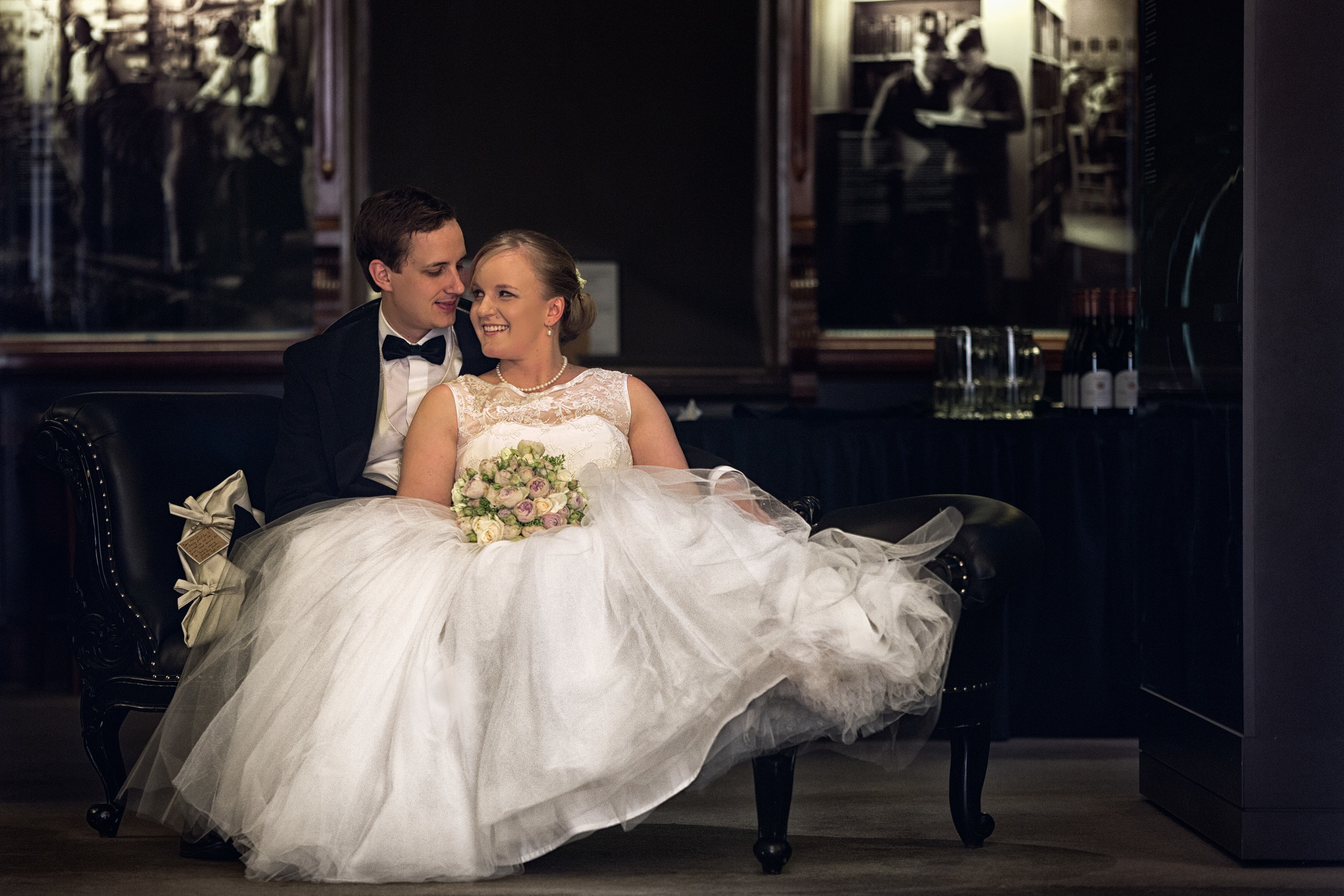 bride and groom in South Australia state library