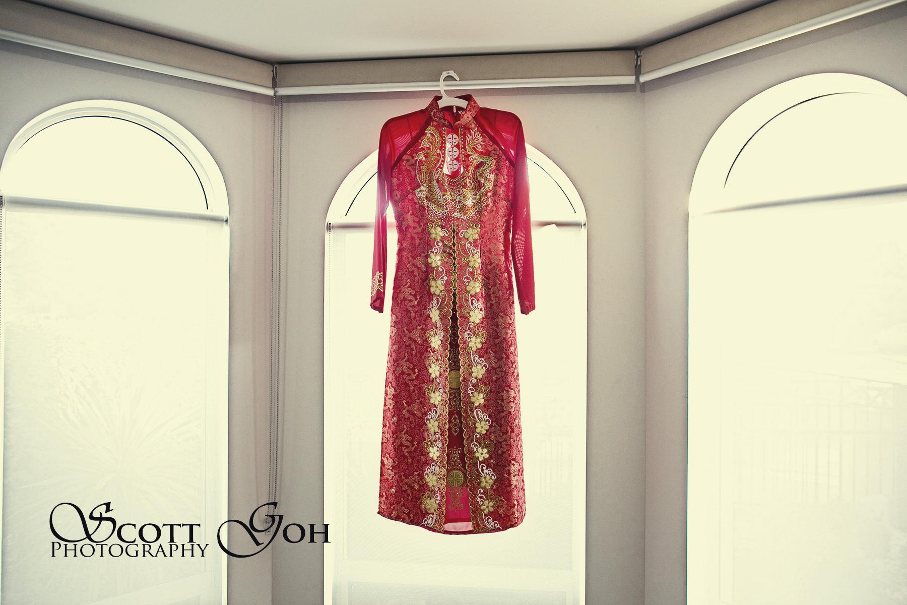 asian wedding gown