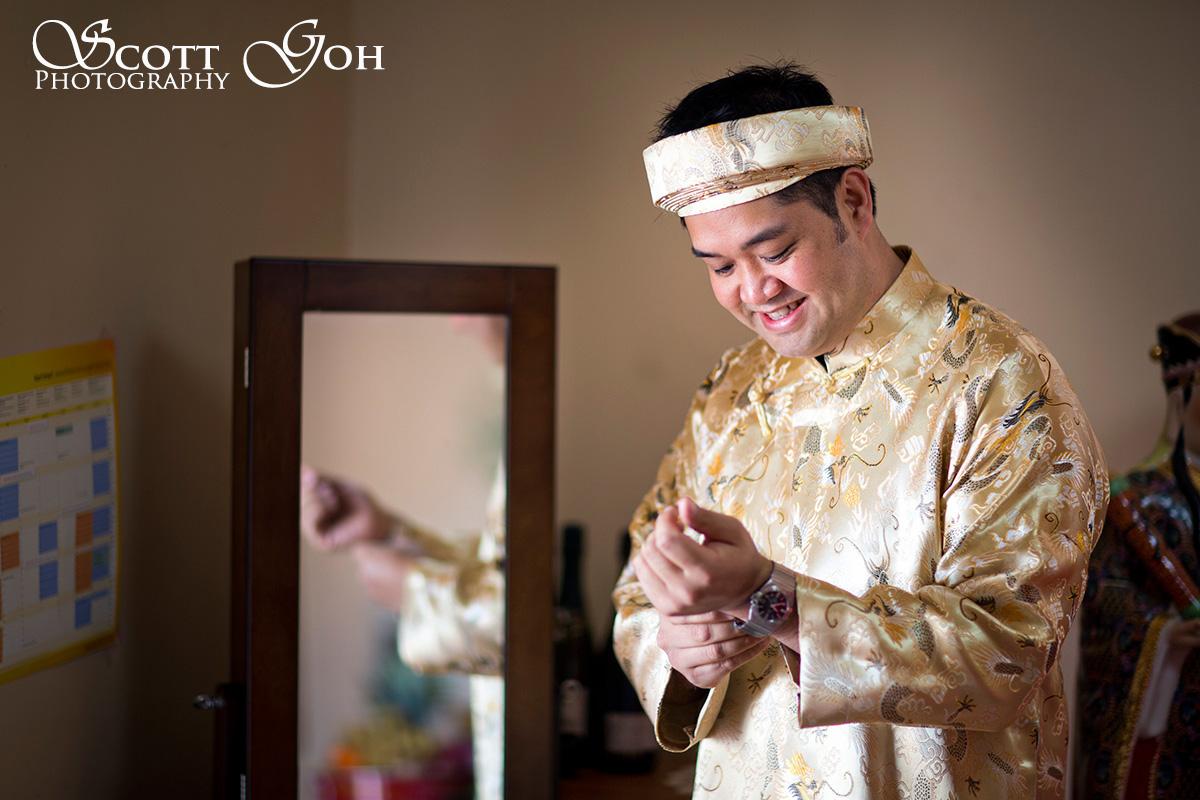 groom prep wedding photo