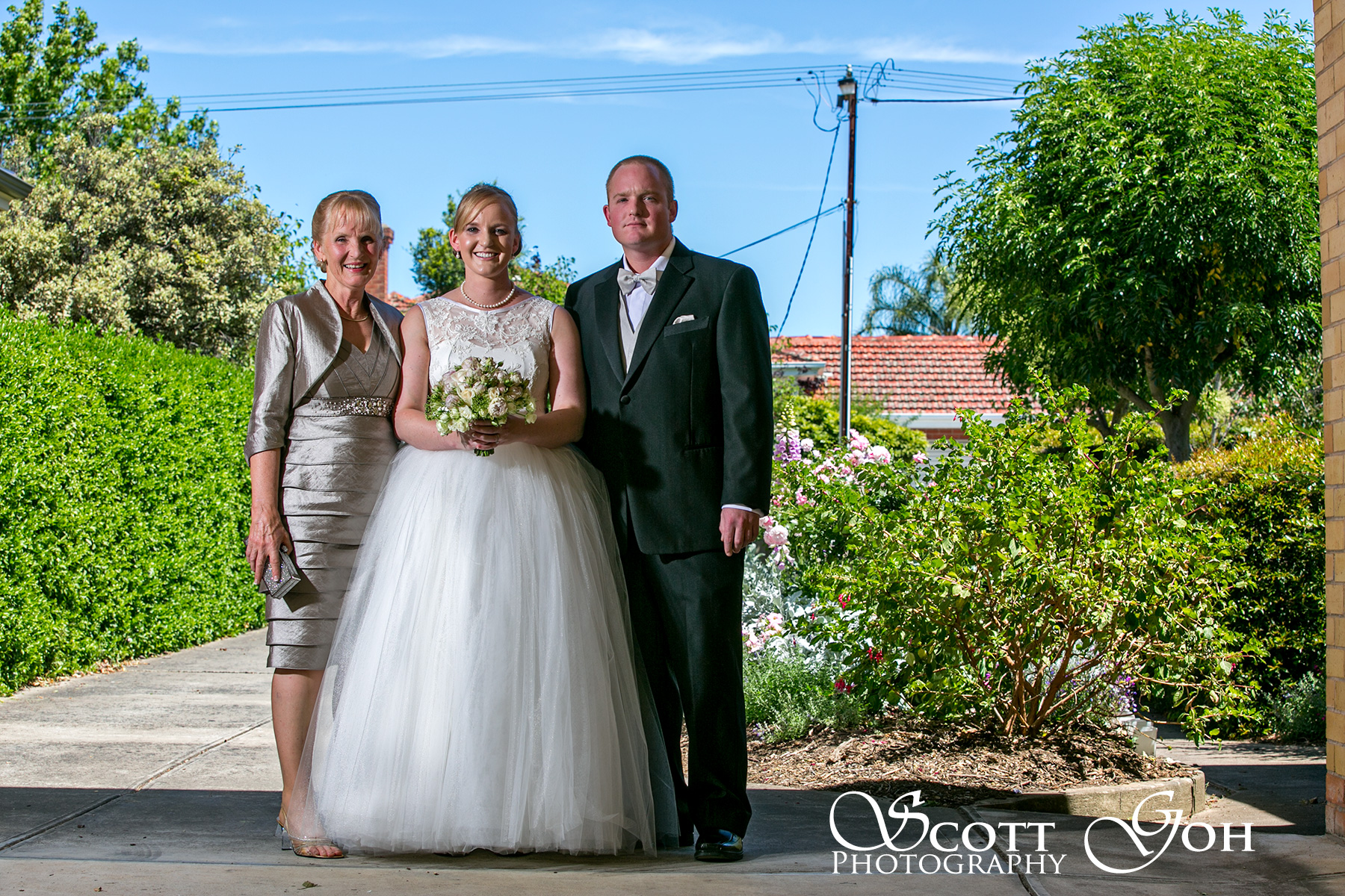 Wedding portrait with quadra