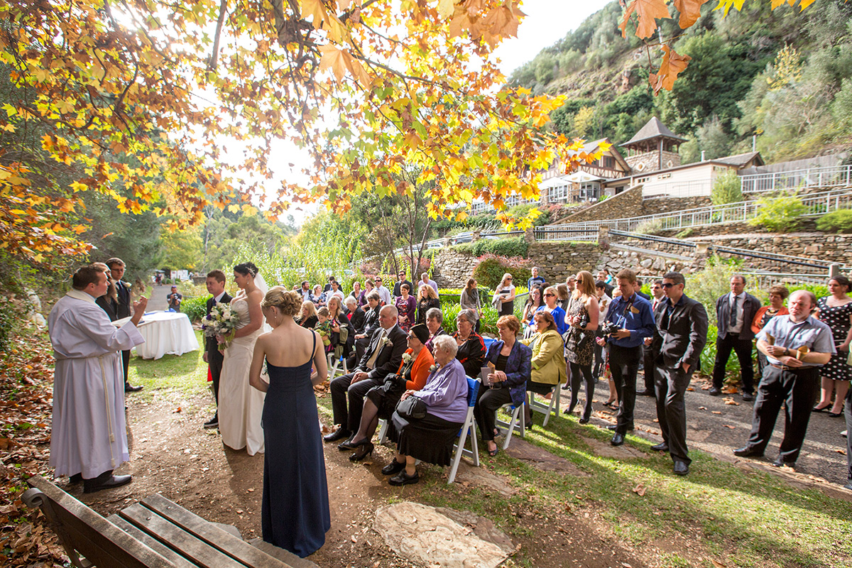 utopia waterfall gully ceremony wedding