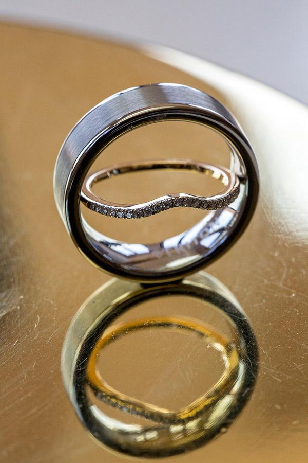 macro wedding ring