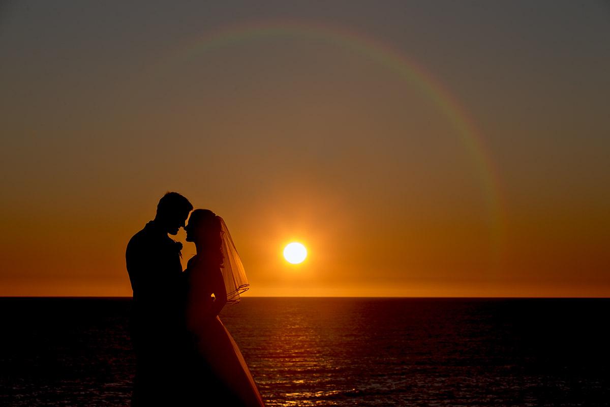 sunset wedding photography adelaide