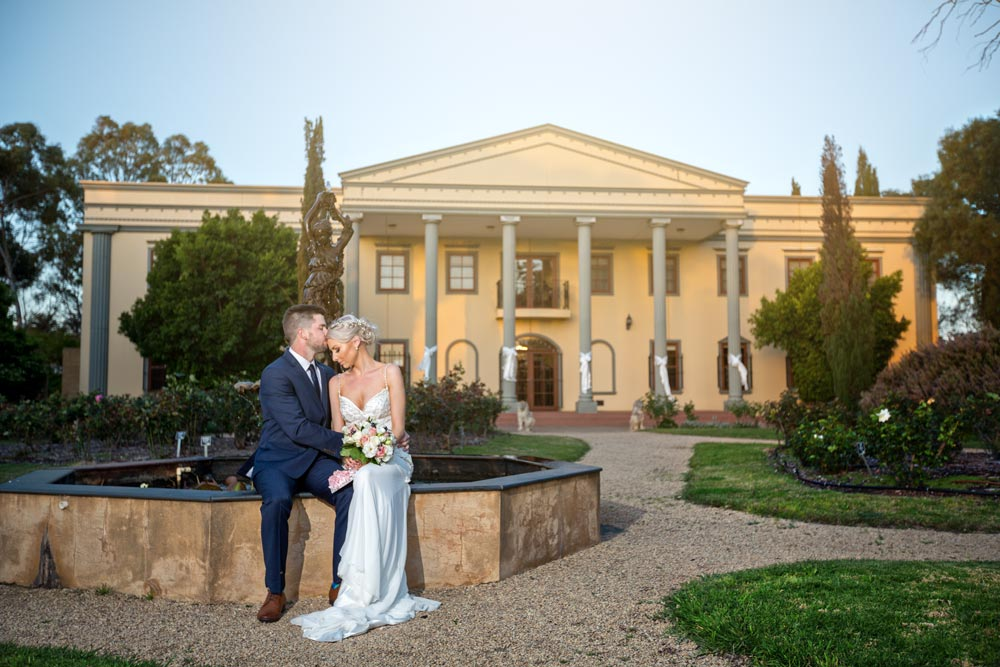barossa chateau winery ceremony wedding photo