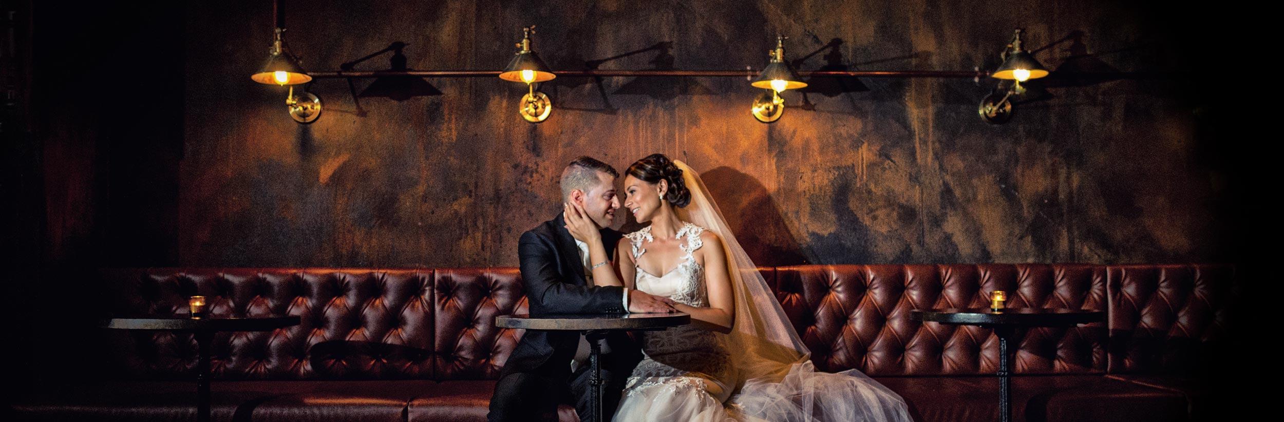 bank street social wedding couple