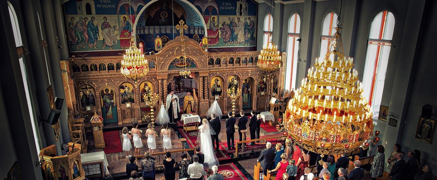 Italian Greek orthodox church wedding