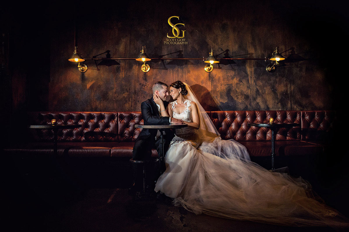 bank st social wedding photography dark