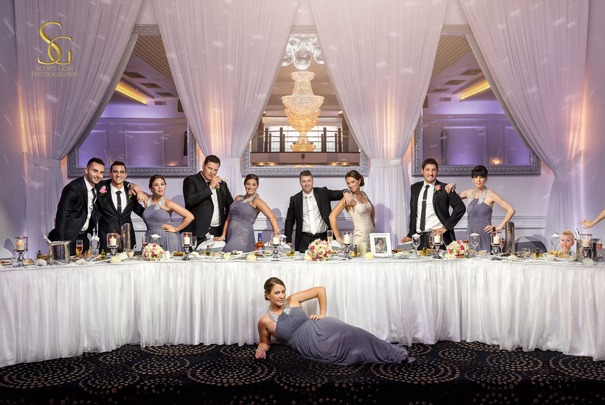 John di fede wedding reception bridal party