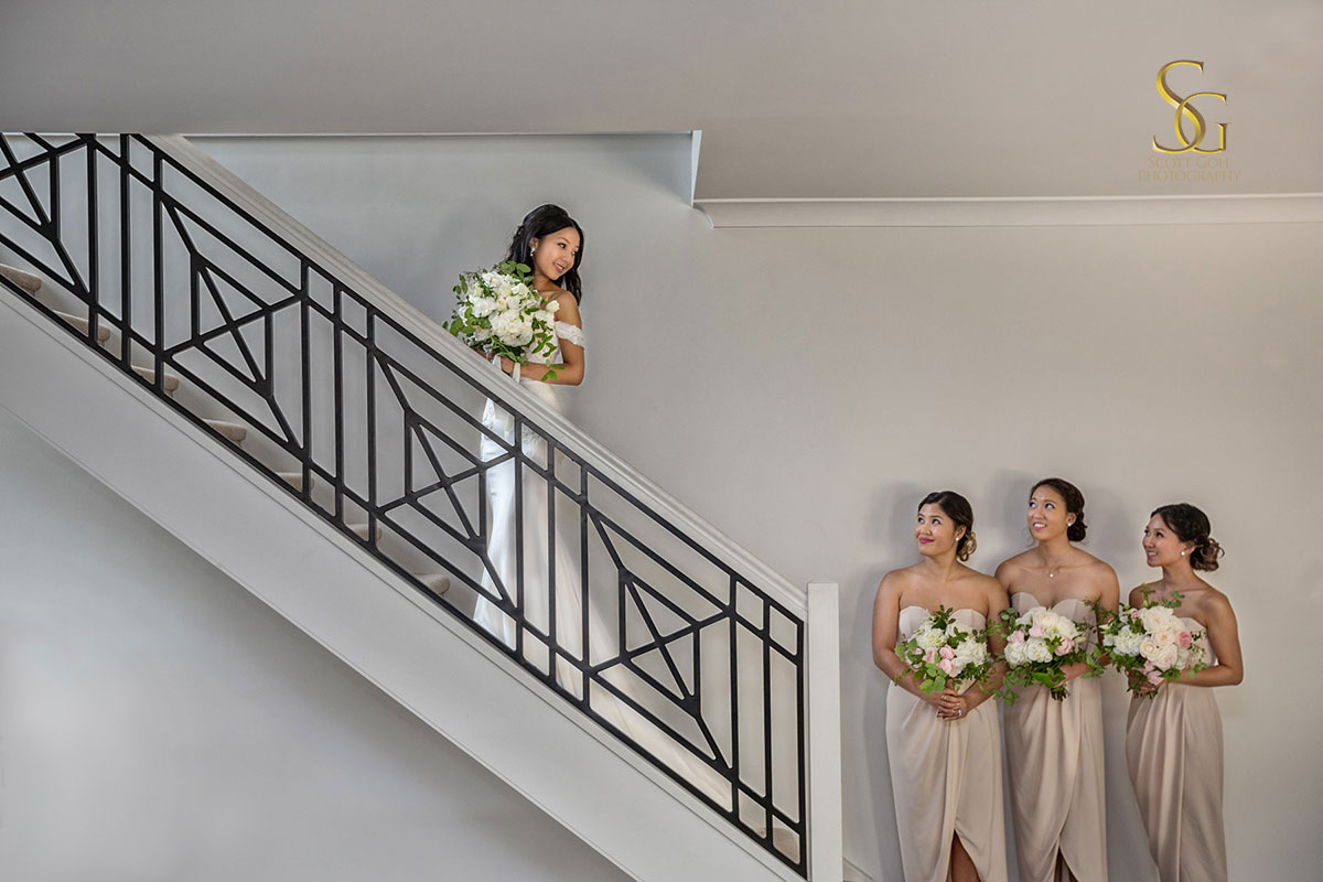 Adelaide bride and bridesmaids