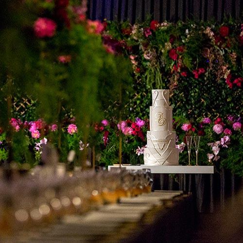wedding cake Krystal function centre