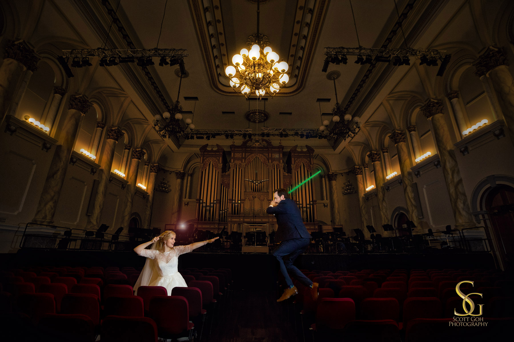 harry potter vs star war wedding photo