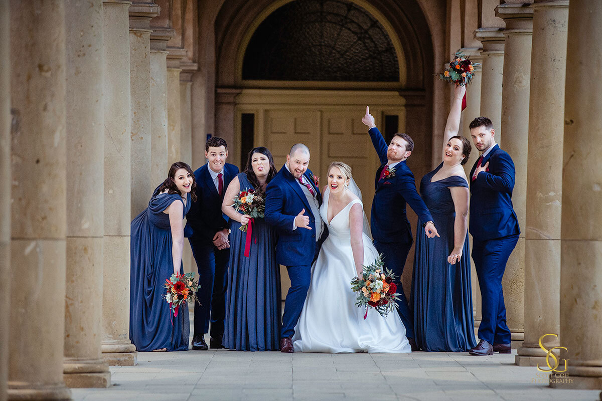 bridal party fun wedding photos university of Adelaide