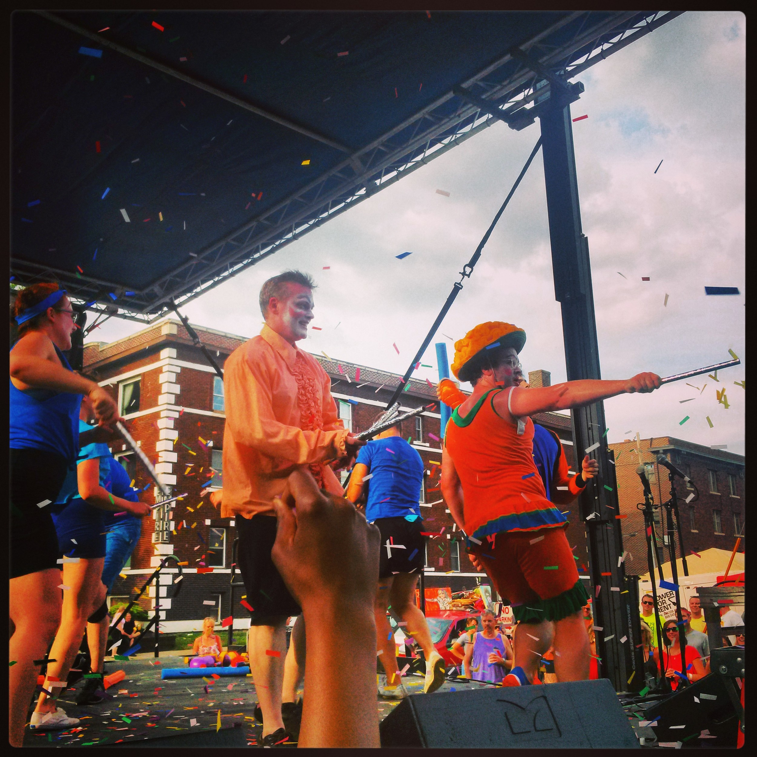 photo: Joanna Harmon  pictured: Anna Reichert, Alana Horton, Damian Johnson, Tyler Olsen, Dustin Suggs