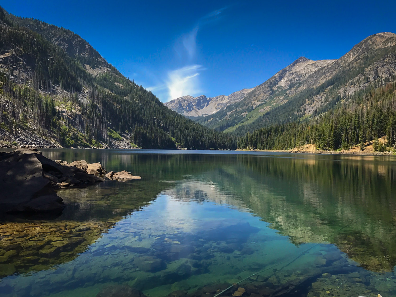 Guests shared this amazing view at local Eight Mile Lake... come explore the Cascades and renew!