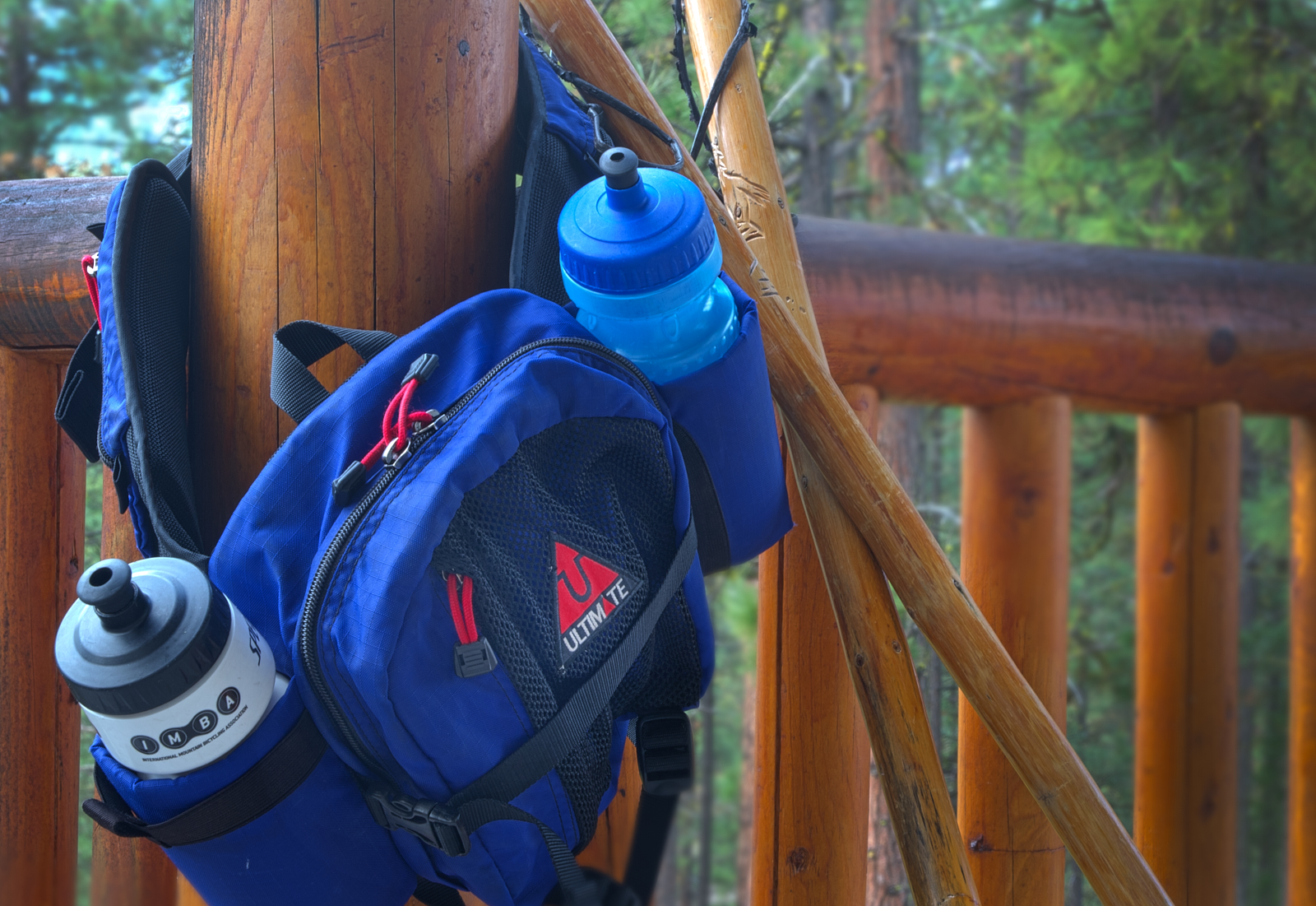 Complimentary Hydro Pack & Hiking Sticks