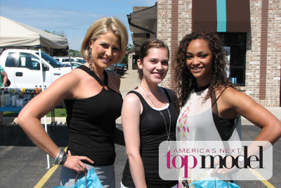 Winners of America's Next Top Model     Casting Call at Eve Salonspa