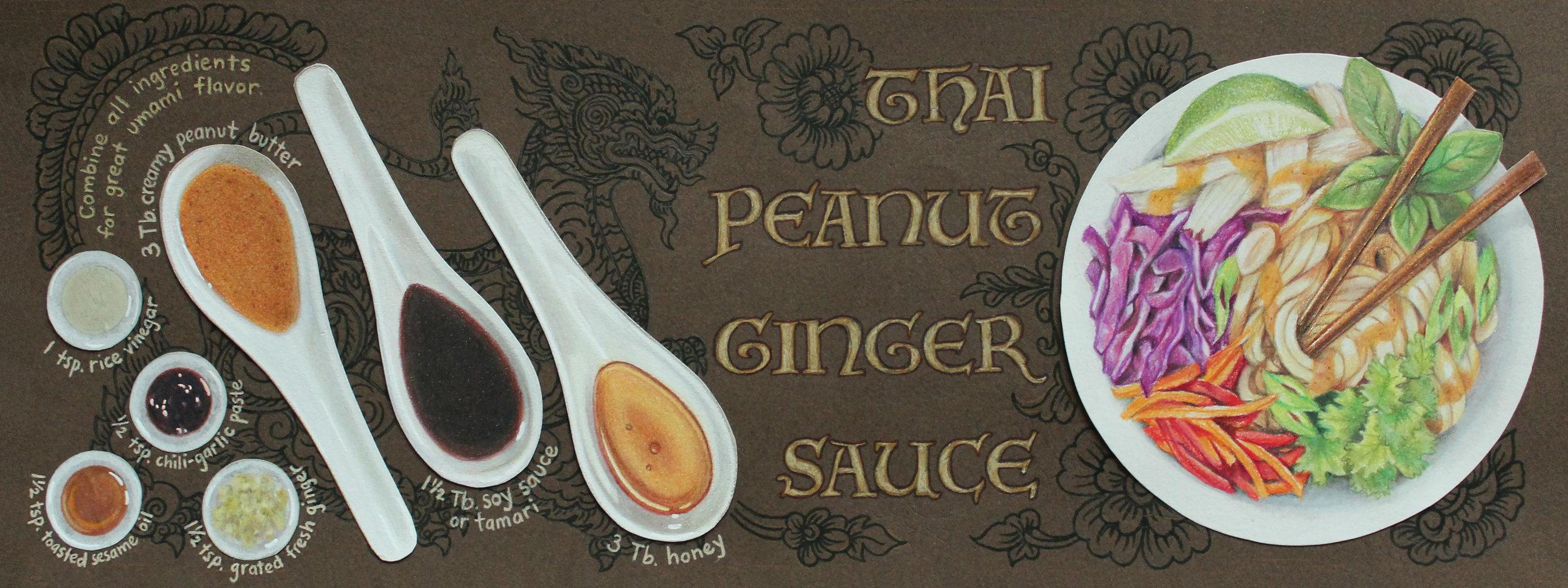 Illustrated Recipe - Peanut Ginger Sauce