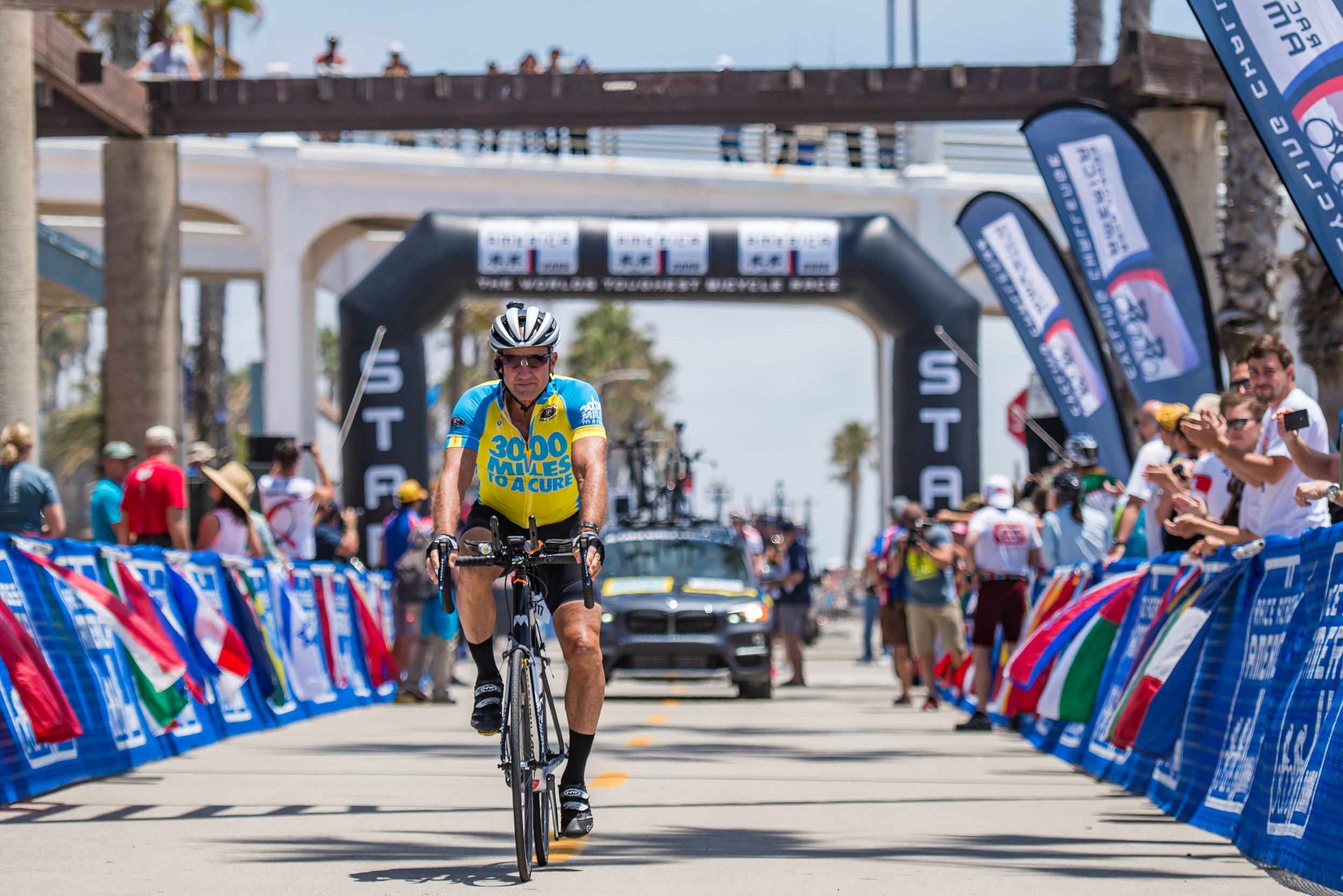 Marshall Reeves began his 3,000 mile, cross-country journey in Oceanside, CA on June 14th, 2016. This was his third attempt at completing the Race Across America, also known as the World's Toughest Race. The difference was that this year, he was racing to raise money for brain cancer research.